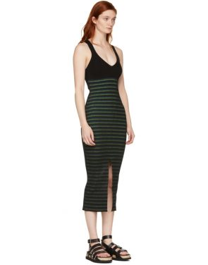 photo Black Striped Maxi Dress by Opening Ceremony - Image 2