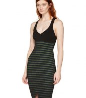 photo Black Striped Maxi Dress by Opening Ceremony - Image 4
