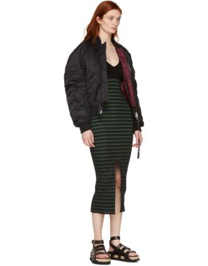 photo Black Striped Maxi Dress by Opening Ceremony - Image 5