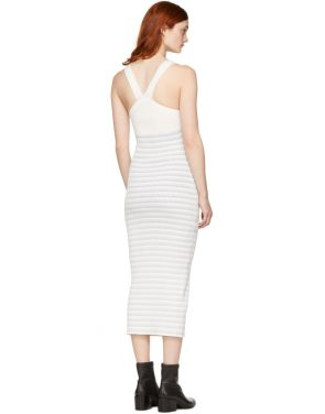 photo White Striped Maxi Dress by Opening Ceremony - Image 3