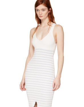 photo White Striped Maxi Dress by Opening Ceremony - Image 4