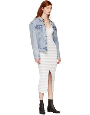 photo White Striped Maxi Dress by Opening Ceremony - Image 5