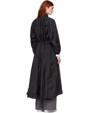 photo Black Maxi Anorak Dress Coat by Opening Ceremony - Image 3