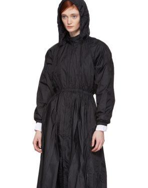 photo Black Maxi Anorak Dress Coat by Opening Ceremony - Image 4