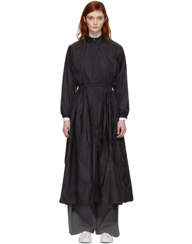 photo Black Maxi Anorak Dress Coat by Opening Ceremony - Image 1