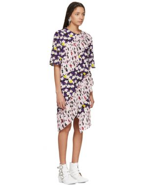photo Multicolor Ruffled Tee Dress by Kenzo - Image 2