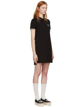 photo Black Tiger Crest Polo Dress by Kenzo - Image 2