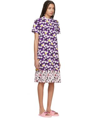 photo Multicolor Mix Floral Pleat T-Shirt Dress by Kenzo - Image 2