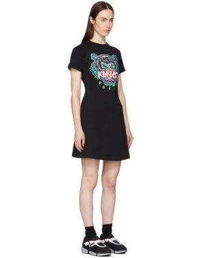 photo Black Tiger Flared T-Shirt Dress by Kenzo - Image 2