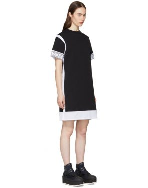photo Black and White Mix Mesh T-Shirt Dress by Kenzo - Image 2