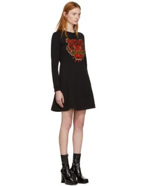 photo Black Limited Edition Chinese New Year Tiger Sweatshirt Dress by Kenzo - Image 2