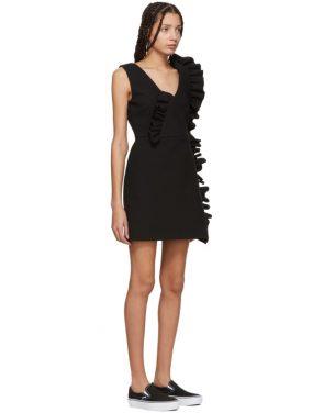 photo Black Ruffles Dress by MSGM - Image 2