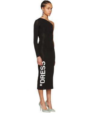 photo Black Dress One-Shoulder Dress by Off-White - Image 2