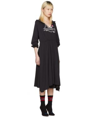 photo Black Hometown Hooded Jersey Dress by Vetements - Image 2