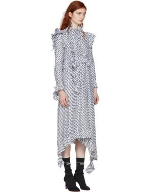 photo White and Black Ruffle All Over Logo Dress by Vetements - Image 2