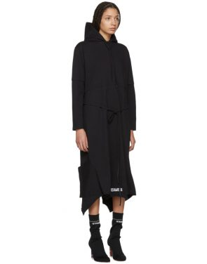 photo Black Panelled Hooded Dress by Vetements - Image 2