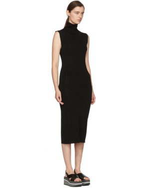 photo Black Wool Valpariso Turtleneck Dress by Toteme - Image 2