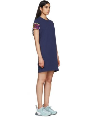 photo Navy Limited Edition Multicolor Logo Dress by Kenzo - Image 2