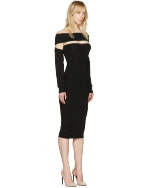photo Black Bandeau Off-the-Shoulder Dress by McQ Alexander McQueen - Image 2