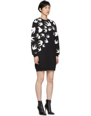 photo Black Swallow Signature Sweatshirt Dress by McQ Alexander McQueen - Image 2
