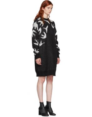 photo Black and White Swallow Swarm Dress by McQ Alexander McQueen - Image 2