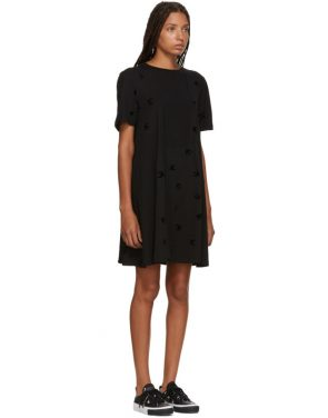 photo Black Cut Babydoll Dress by McQ Alexander McQueen - Image 2
