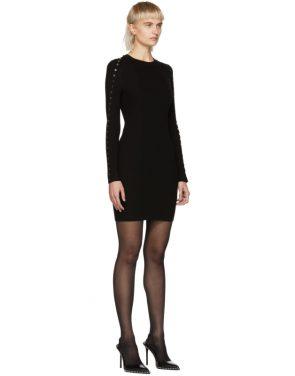 photo Black Splittable Snap Dress by Alexander Wang - Image 2