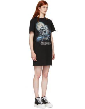 photo Black Cosmic Zebra T-Shirt Dress by Opening Ceremony - Image 2