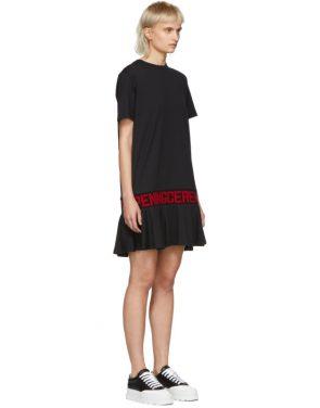 photo Black Elastic Logo T-Shirt Dress by Opening Ceremony - Image 2