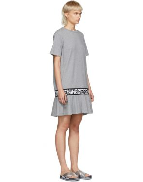 photo Grey Elastic Logo T-Shirt Dress by Opening Ceremony - Image 2