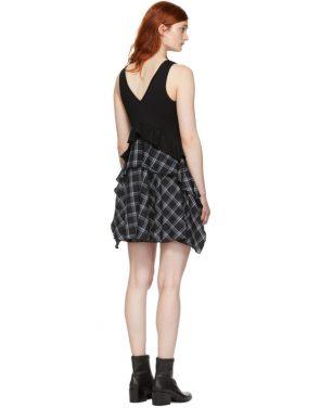 photo Black Plaid Mix Dress by Opening Ceremony - Image 3