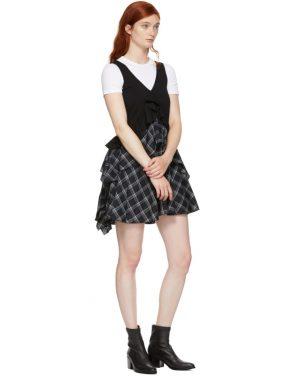 photo Black Plaid Mix Dress by Opening Ceremony - Image 5