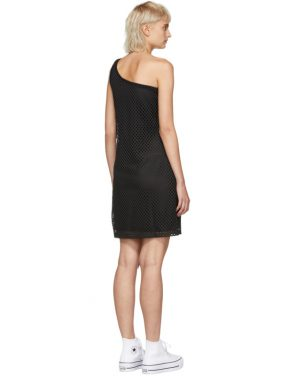 photo Black Mesh One-Shoulder Dress by Opening Ceremony - Image 3