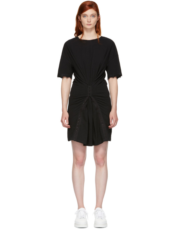 photo Black Hook and Eye T-Shirt Dress by Opening Ceremony - Image 1