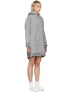 photo Grey Elastic Logo Unisex Hoodie Dress by Opening Ceremony - Image 2