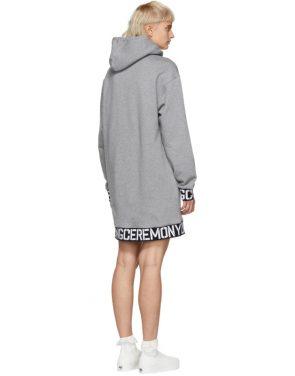 photo Grey Elastic Logo Unisex Hoodie Dress by Opening Ceremony - Image 3