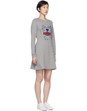 photo Grey Tiger Flare Dress by Kenzo - Image 2
