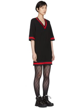 photo Black Short Webbing Dress by Gucci - Image 2