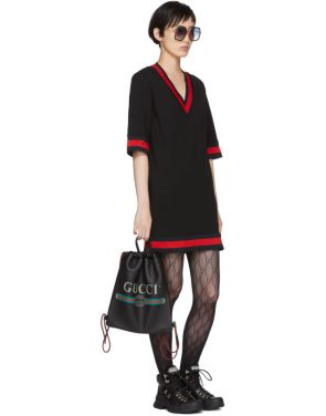 photo Black Short Webbing Dress by Gucci - Image 5