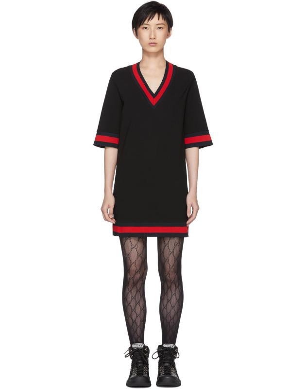 photo Black Short Webbing Dress by Gucci - Image 1
