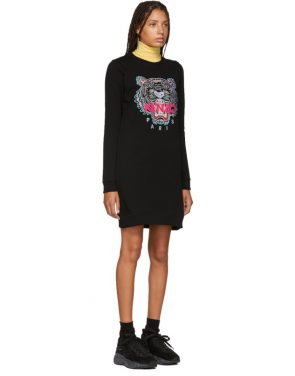 photo Black Classic Tiger Sweatshirt Dress by Kenzo - Image 2