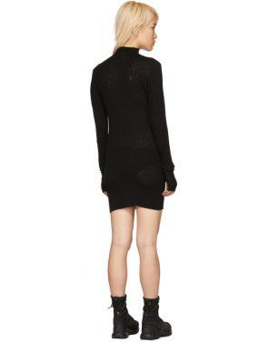photo Black Rib Turtleneck Dress by Boris Bidjan Saberi - Image 3