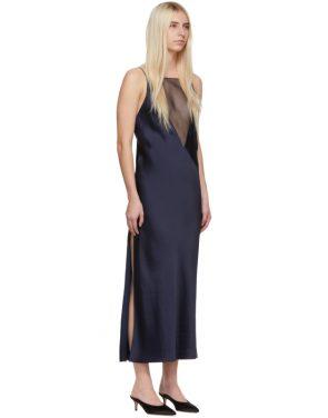 photo Navy Gia Slip Dress by Marina Moscone - Image 2