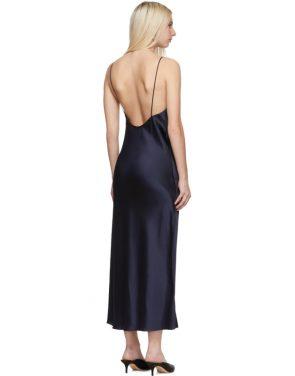 photo Navy Gia Slip Dress by Marina Moscone - Image 3