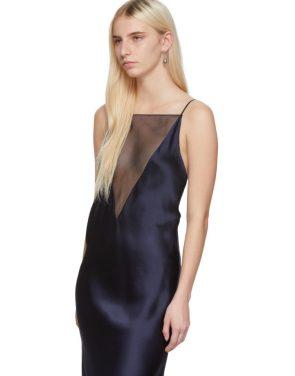 photo Navy Gia Slip Dress by Marina Moscone - Image 4
