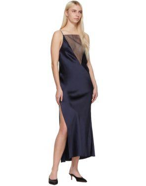 photo Navy Gia Slip Dress by Marina Moscone - Image 5