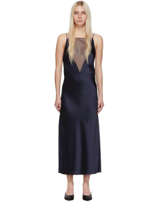 photo Navy Gia Slip Dress by Marina Moscone - Image 1