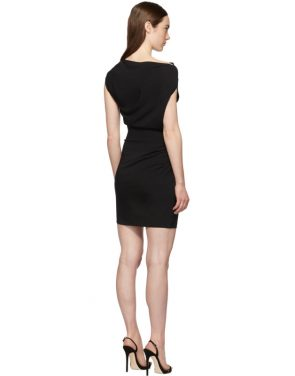 photo Black Ruched Sleeveless Dress by Versace - Image 3