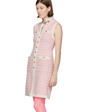 photo Pink Tweed Dress by Gucci - Image 4