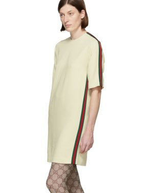 photo Off-White Cady Short Dress by Gucci - Image 4
